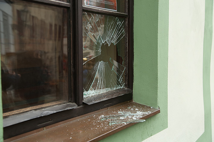 A2B Glass are able to board up broken windows while they are being repaired in East Acton.